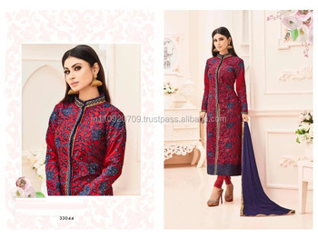 Buy Fully Work Straight Cut Long Suit Online Buy Dresses Online