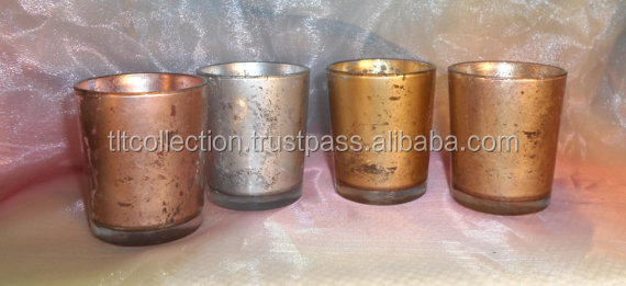 30 Rose Gold Mercury Glass Votive Candle Holders / parties / holidays / weddings / gift