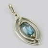 New Creativity !! Sky Blue Topaz 925 Sterling Silver Marquise Pendant, Express Delivery !! Discounted Prices, Silver Jewellery