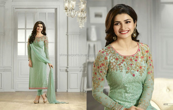 Prachi Desai Resham Work Churidar Designer Suit/buy Designer ...