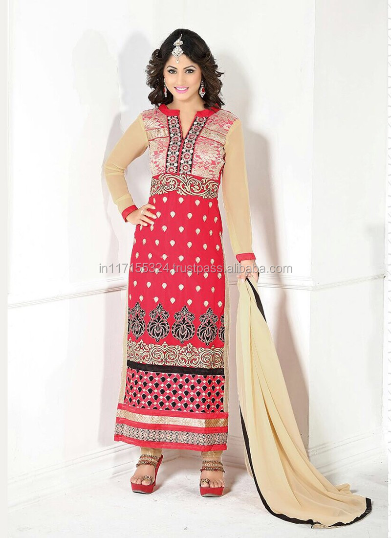 Heena Khan Long Design New Salwar Suits - Women Salwar Kameez ...
