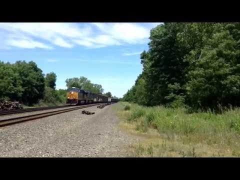 CSX train goes west