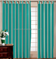 Curtain fabrics In India / Bamboo Beads Cotton Stripe Curtain / Window Screen Stripe