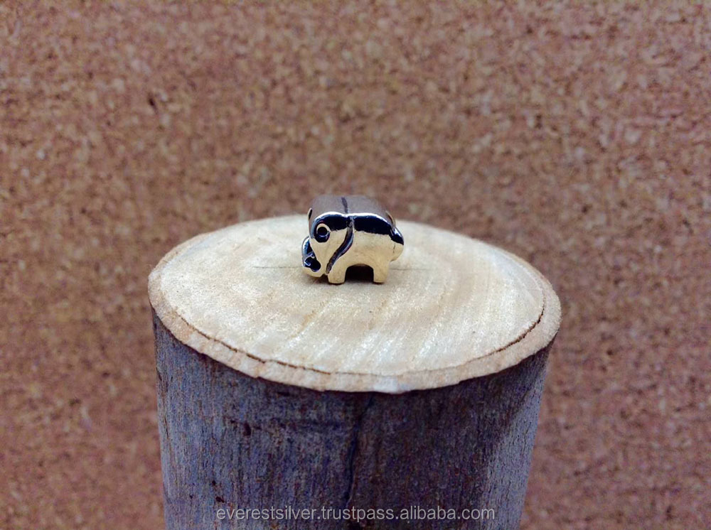 Wholesale handmade silver charm DIY 925 sterling silver charm animal elephant silver