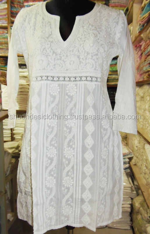 White Short Kaftans Women Beach Tunic Indian Kaftan Buy