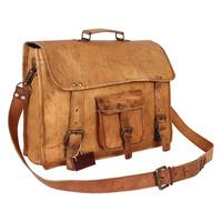 Travel Satchel Flight Bag ,Large Leather Messenger Bag made In India.