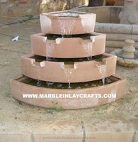 Handmade Sandstone Waterfall Fountain