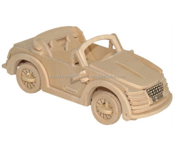 3D Car Jigsaw Puzzle Wooden Diy Toys
