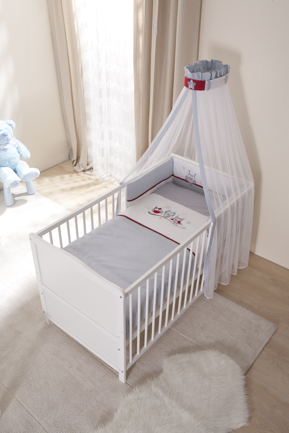 White vintage baby cot crib to adult baby junior bed pine for Cradle bed for adults
