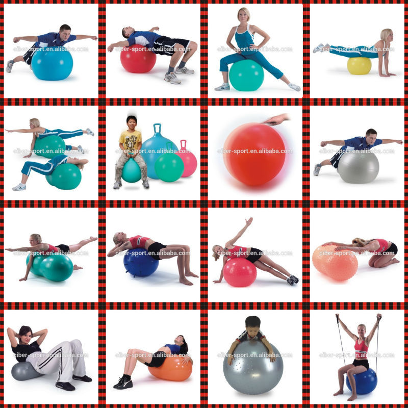 2015 Hot Inflatable Pilates Fitness Gym Yoga Oval Peanut