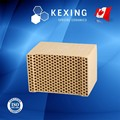 Honeycomb ceramic regenerator for RTO RCO