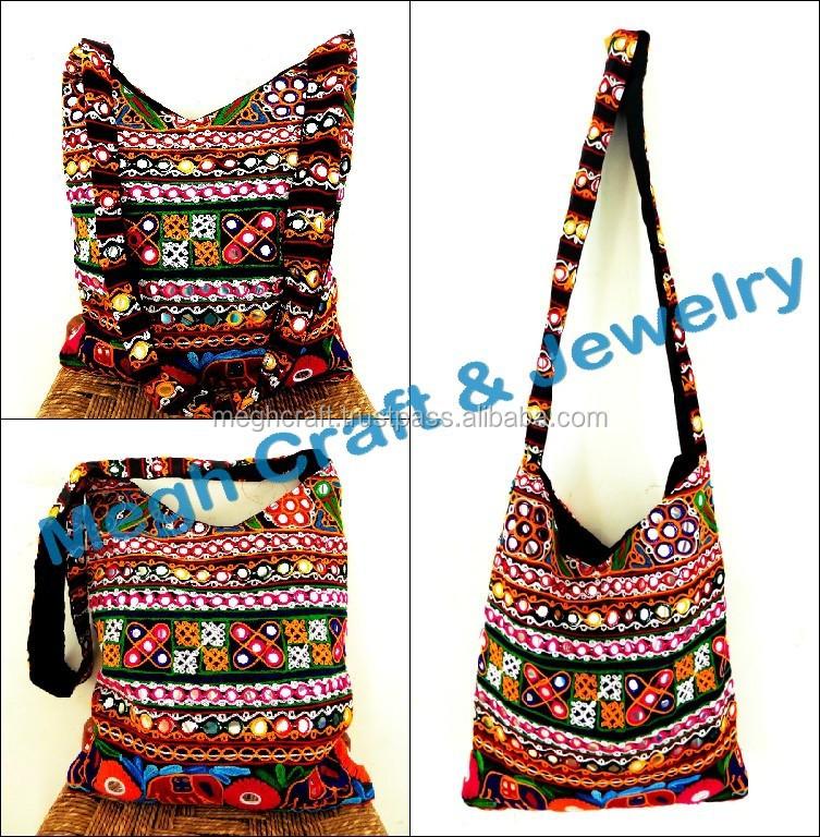 2017 Whole Indian Traditional Handbags Gujarati Kutch Embroidery Handbag Shoulderbag Jhola Bag Rabari Work Designer