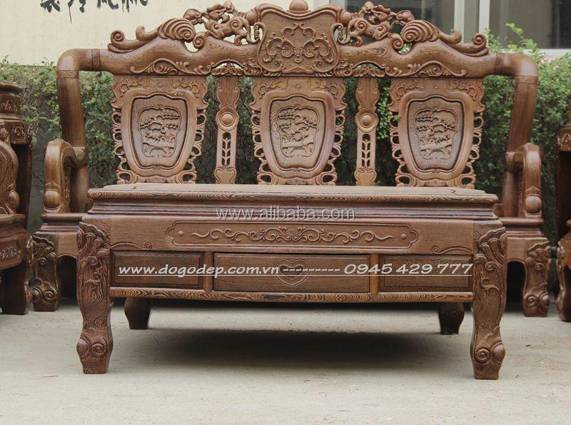 Wooden Sofa Sets Carved Wooden Crafts Natural For Living