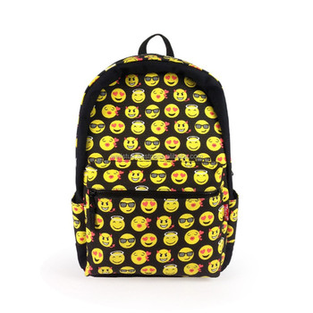 Cool Boys Girls Kids Smiley Mood Emoji Simpson Shoulder Backpacks ...