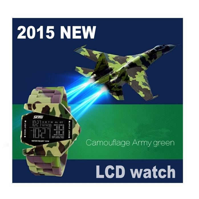 2016 KIDS Sport Watch Electronic Military Army Watches Children Digital LED Cartoon Watch (nice gift)