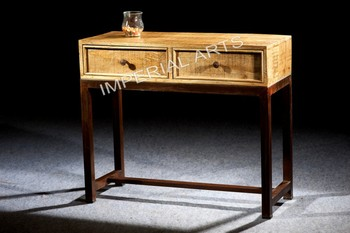 Indian Iron Base Mango Wood Console Table With 2 Drawer   Buy Mango Wood  Furniture Product On Alibaba.com