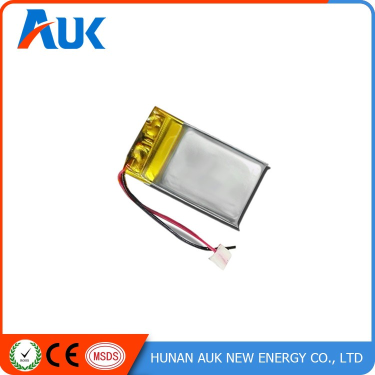 Flat li ion batteries 100mah 3mm thickness lipo for Avantage batterie lithium ion