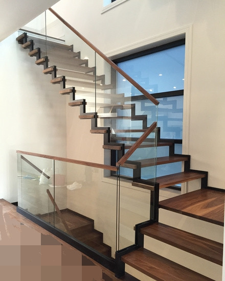 Glass Banister Handrail Stainless Steel Balustrade For