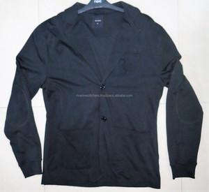 bonded fleece Men's Long Sleeve Knit Blazer