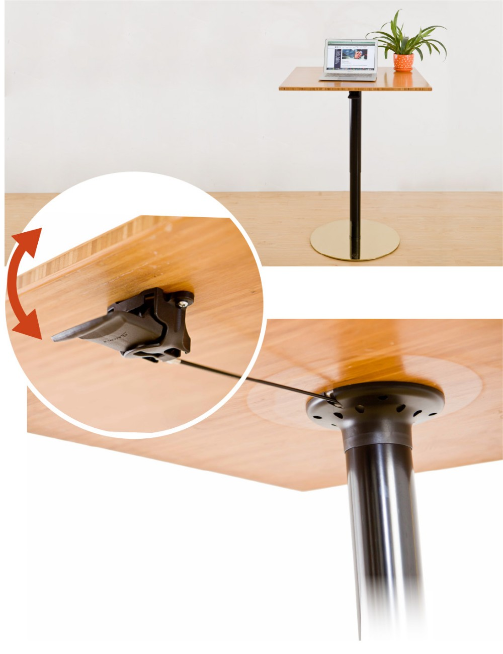 Round or square hydraulic lift table legs for coffee table for Table table table