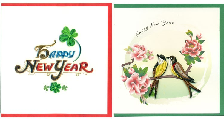 Happy New Year Theme Quilling Paper Greeting Cards Buy