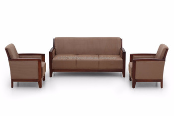 Ekbote Furniture Wooden Arm Sofa Set For Five