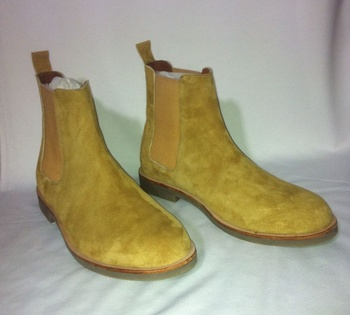 Tan Suede Chelsea Boots Men Latest High Quality Hand Made Genuine