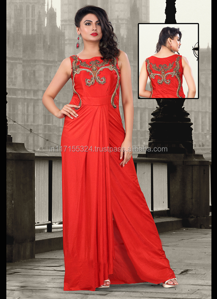Women Gown - Weening Gown Dress - Anarkali Style Party Wear Gown ...