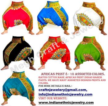 12149d4247b Wholesale African Print harem pants