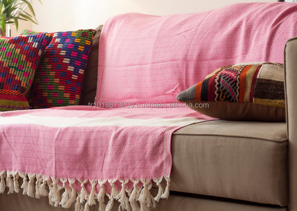 Colorful Cotton Sofa Blanket Cover