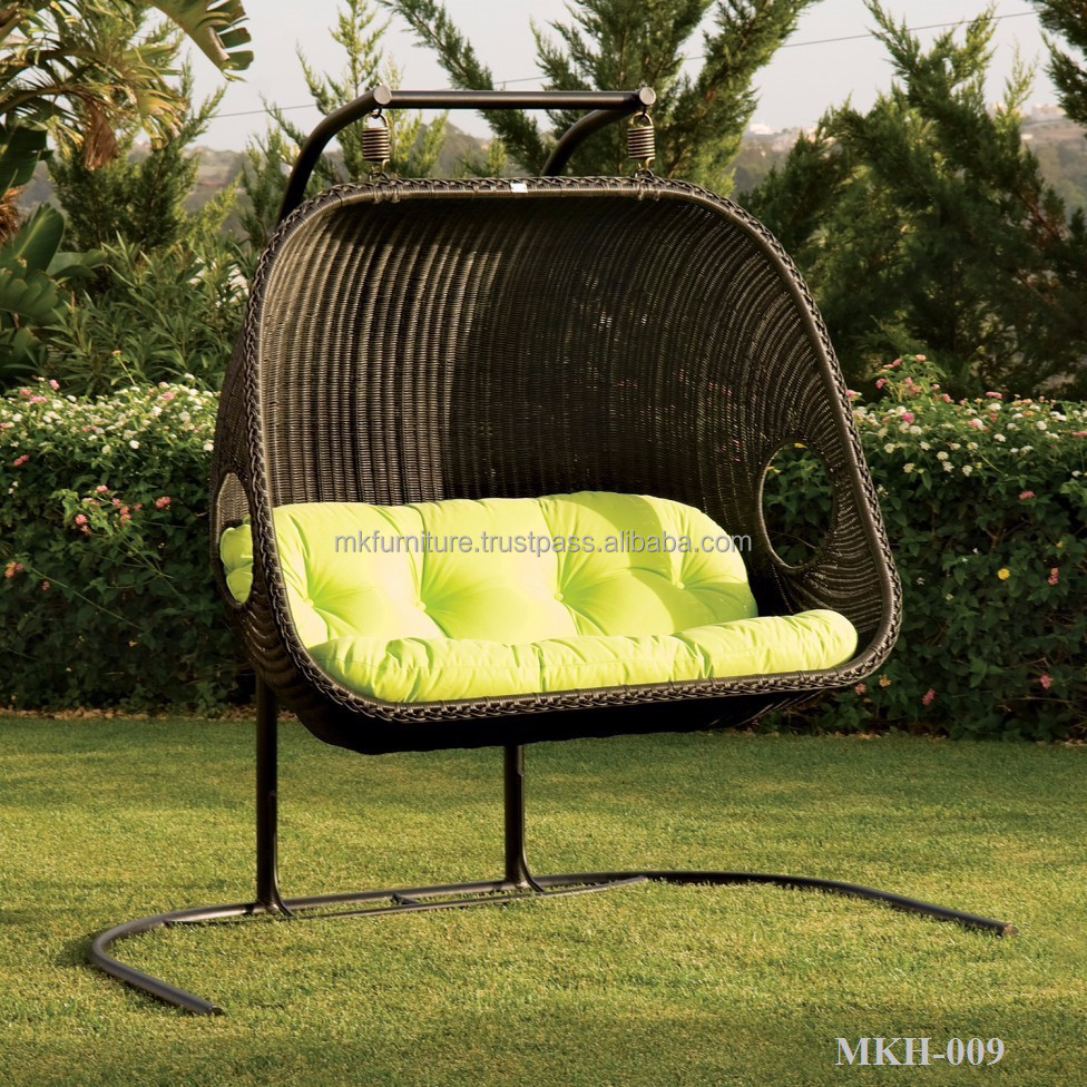 Poly rattan hammock chair outdoor hangging chair wicekr egg chair