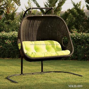 Poly Rattan Hammock Chair   Outdoor Hangging Chair   Wicekr Egg Chair