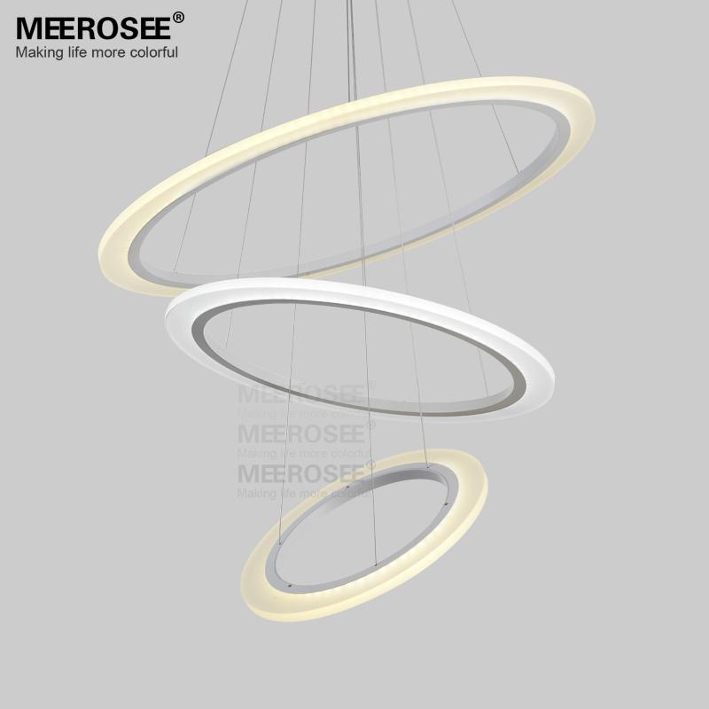White Led Ceiling Flush Mount Modern Led Ring Acrylic Pendant ...