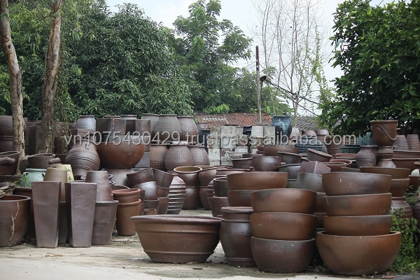 Black Pot Vietnam Plant Pots Garden