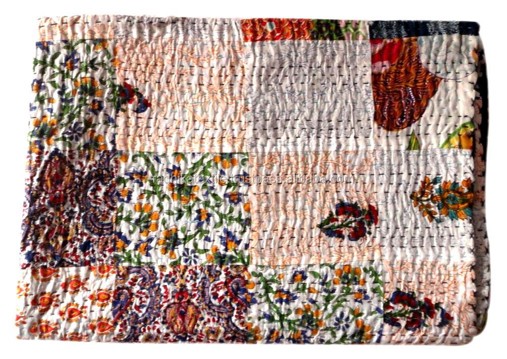 Rthkg-16 Traditional Bengali Designer Patchwork Cotton Fabric ...