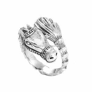 Indian imports, Solid 925 Sterling Silver Horse silver ring, finger jewelry & wholesaler low price silver rings SHRI0358