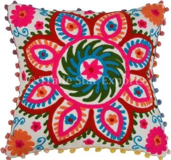 16  quot Suzani вышитые Чехлы для подушек Индийский Этническая хлопок  подушки Boho Винтаж Шамс пледы 7eb7c8cf6205c