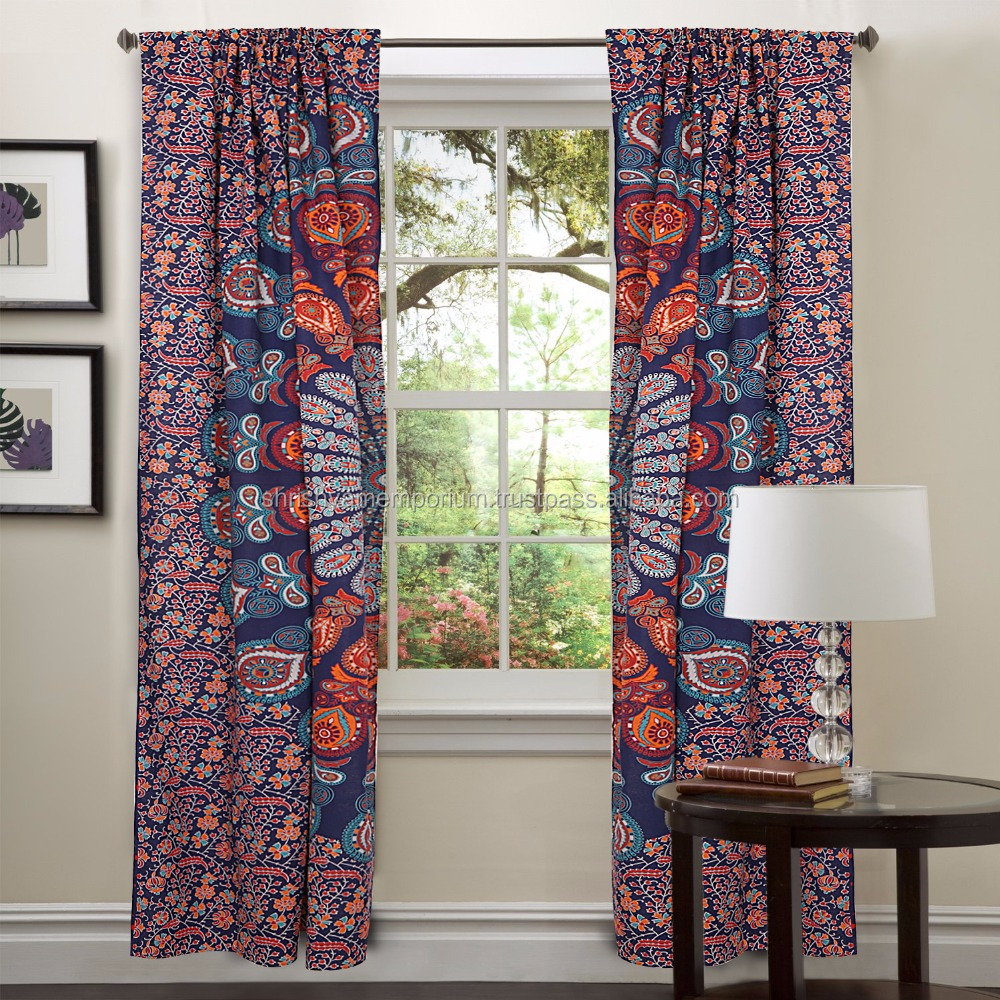 large dorm handloom drapes door curtains products indian panel cotton psychedelic room elephant jaipur