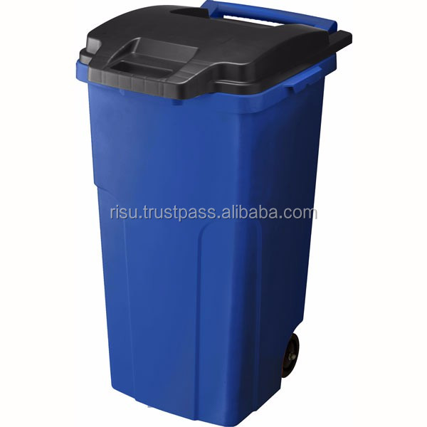Various sizes of open top trash can for segregated waste bins