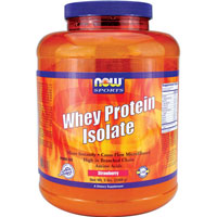 Whey Protein Isolate, Strawberry 5 lb by Now Foods