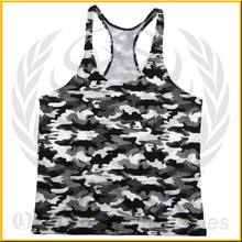 Camo Stringer Vest/ Custom Gold Gym Singlets/mens singlet vests/gymtank