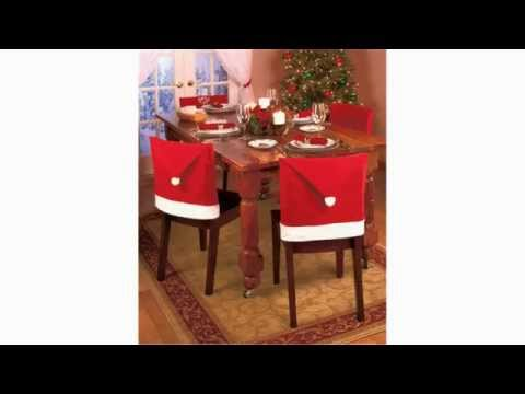 Hat Chair Covers | Perfect!! Santa Claus Clause Hat Chair Covers