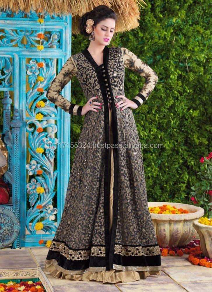 Other Women's Clothing Women's Clothing Latest Designer Black Pakistani Wedding Salwar Kameez Indian Party Festival Suit