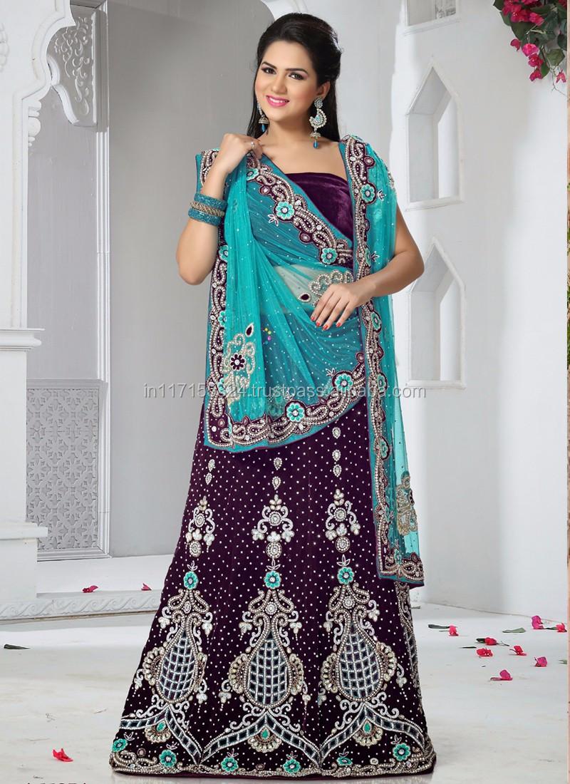 Wedding Wear Lehenga Saree At Wholesale Price - Ready To Wear ...