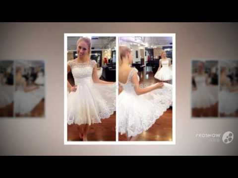 New white short wedding dresses the brides sexy lace wedding dress bridal gown plus size v