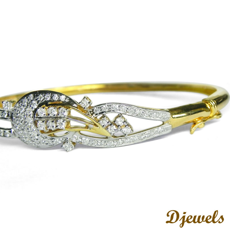 gold designer diamond real finish white bracelet inch genuine finished brass style ladies s brc link