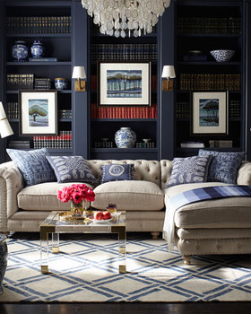 Fabric Upholstery Sectional Sofa Design