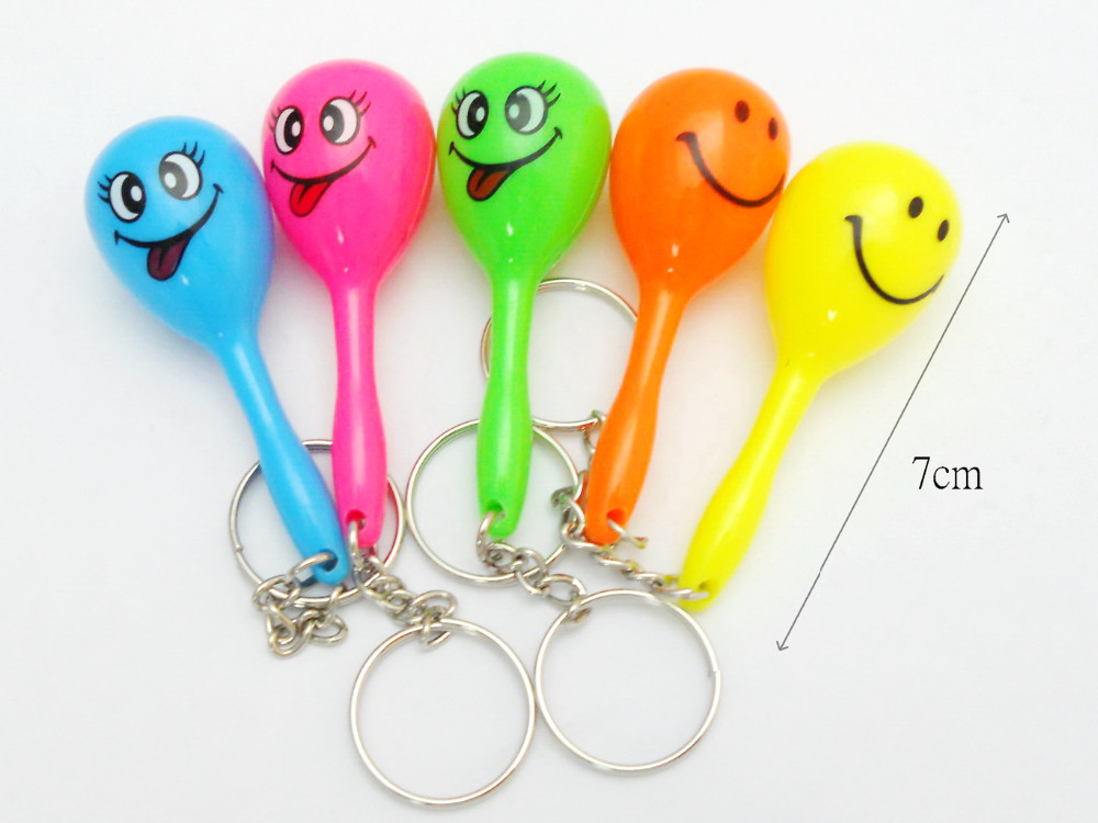 Mini Maracas Key Ring chain Kids Girls Home Craft Toys Birthday Party Favor Scope Pinata Bag Filler Loot Game Gift Novelties