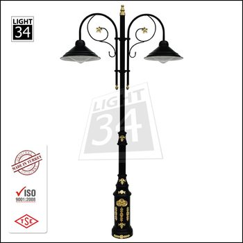 Cast Aluminum Garden Light Park Street Lighting Pole Decorative Lamp Post
