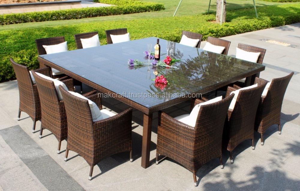 rattanmöbel outdoor großer esstisch set 10 sitzer-terrasse outdoor, Esstisch ideennn